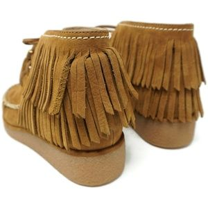 UGG Shoes - Ugg Caleb Leather Wedge Booties Womens Size 6